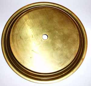 Brass dial pan for clock faces