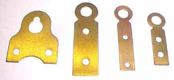 Hanger, brass wall type hanger available in four sizes