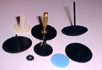 Gear set for Lanshire clock movements