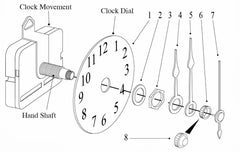 quartz clock movements installation drawing