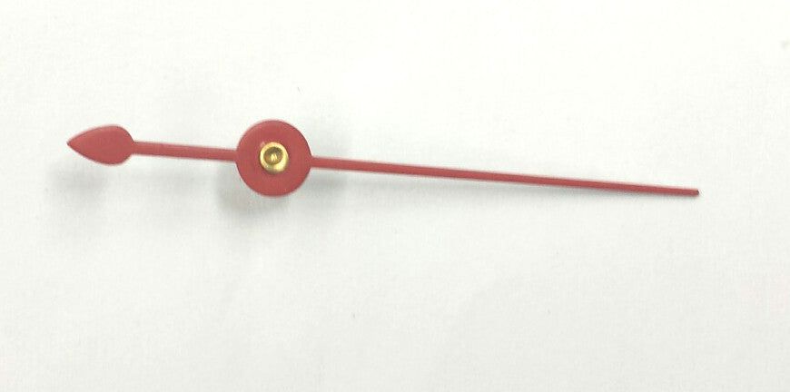 Red sweep second hand for quartz clock movements