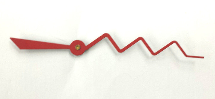 Red zig zag sweep second hand for quartz clock movements