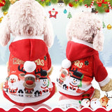 Christmas Dog Clothes Red Coat Pattern Dog Pet Dog Tree Winter Christmas Clothes Cute Coat  Winter Autumn