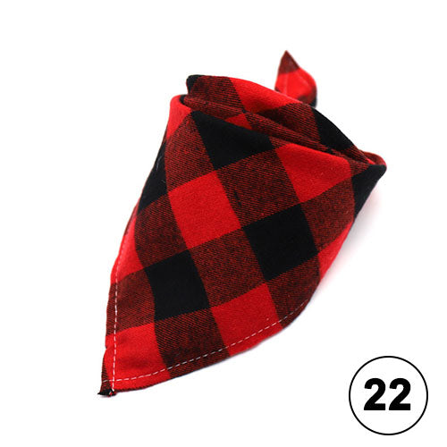 Pet Dog Bandana Small Large Dog Bibs Scarf Washable Cozy Cotton Plaid Printing Puppy Kerchief Bow Tie Pet Grooming Accessories