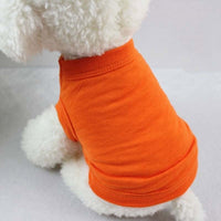XS-3XL Solid Pure Cotton Dog Shirts Clothes Leisure Soft Dog Vest Bottoming Shirts for Large Medium Small Dogs