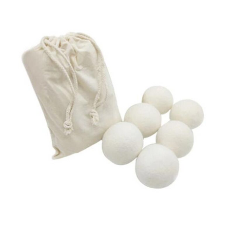 Premium Organic Wool Dryer Balls (6-Pack )
