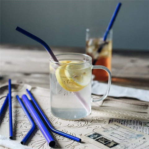 Color Changing Reusable Stainless Steel Straw