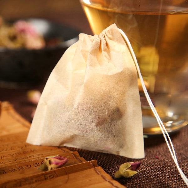Natural Bamboo Paper Tea Bags 100-Pack