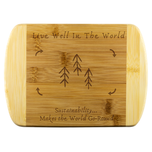 Live Well Eco Bamboo Cutting Board