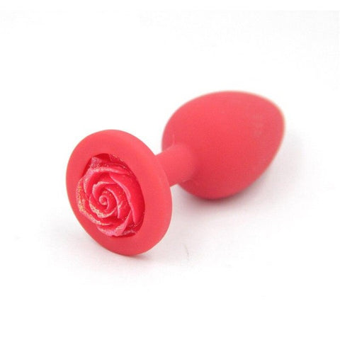 Plug Anal Silicone Rouge Fleur Rouge