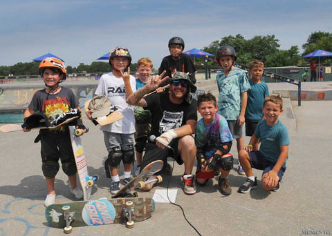 Local Skateboard legend Shane MaGrane was generous with the kids allday, giving tips and advices!