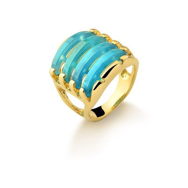 Four Layered Gems Ring - Rio Design Europe
