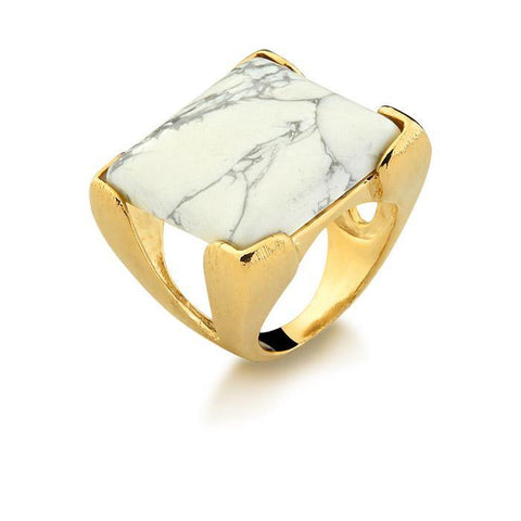 Large Square Gem Ring