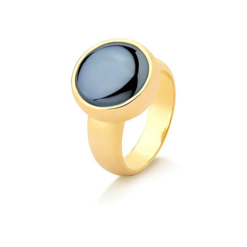 Round Pearlized Gemstone Ring