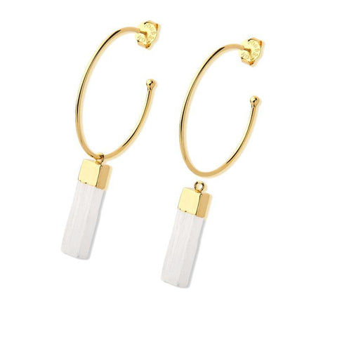 Selenita Loop Earring