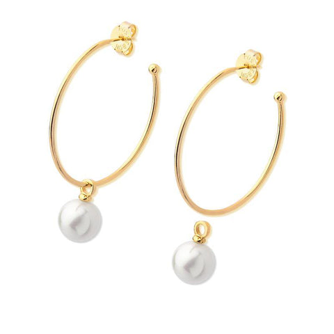 Hoop Earring with Pearl