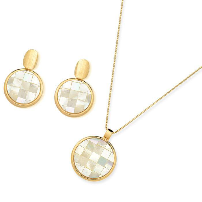 MOTHER OF PEARL  MOSAIC SET