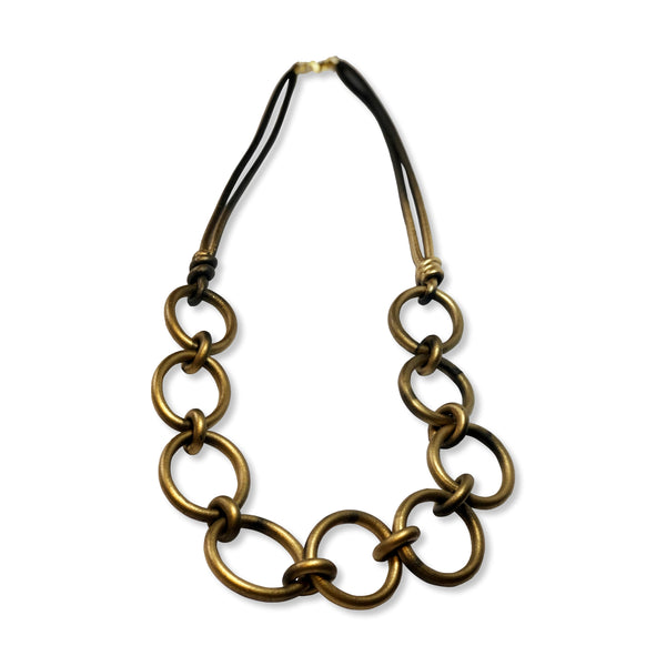 Rubber Loops Long Necklace