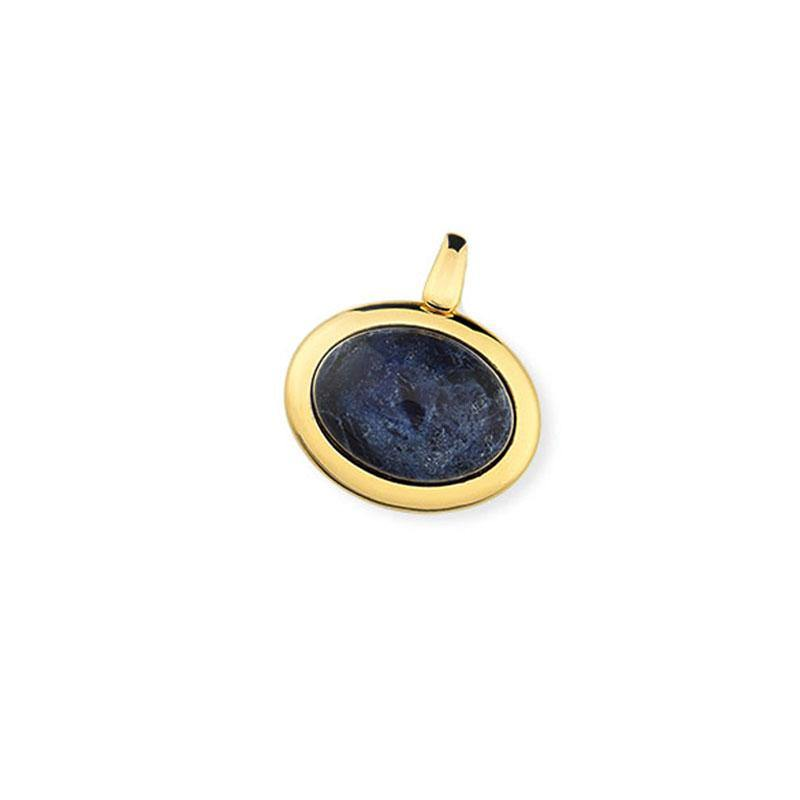 Oval Framed Gemstone Pendant - Rio Design Europe