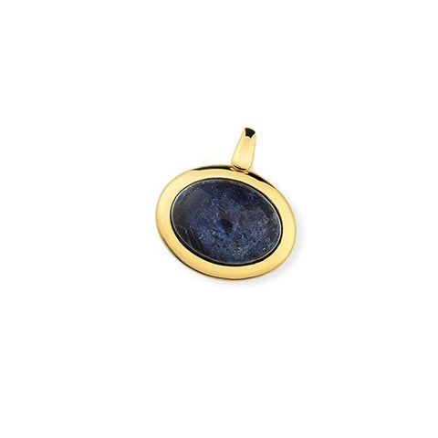 Oval Framed Gemstone Pendant