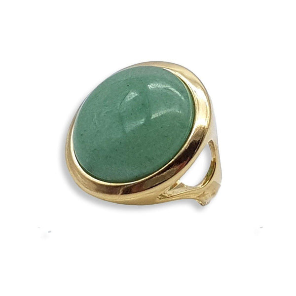 Rio Design Circle Gemstone Frame Ring