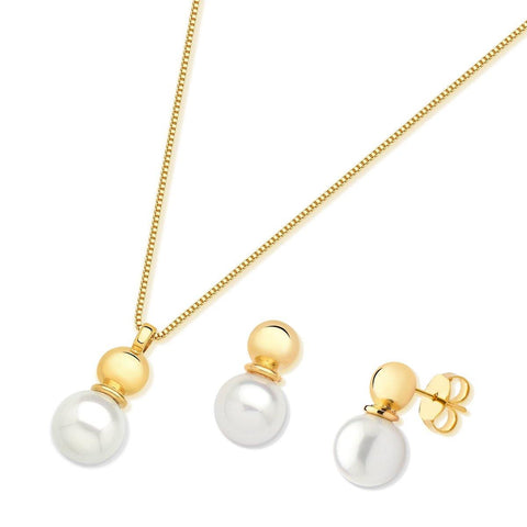 ROUND BASE PEARL SET