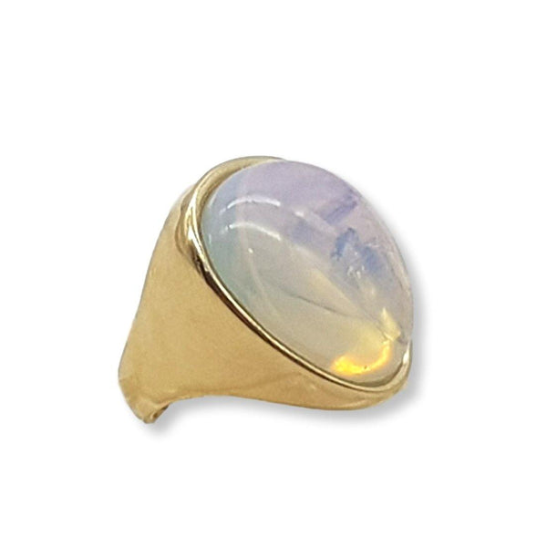 Rounded Triangle Gem Ring