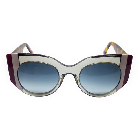Gustavo Eyewear - G13 -Tr Gray - Gray and Burgundy Stripes