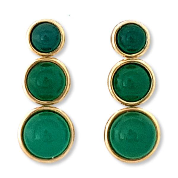 Three Circles Gemstone Earring