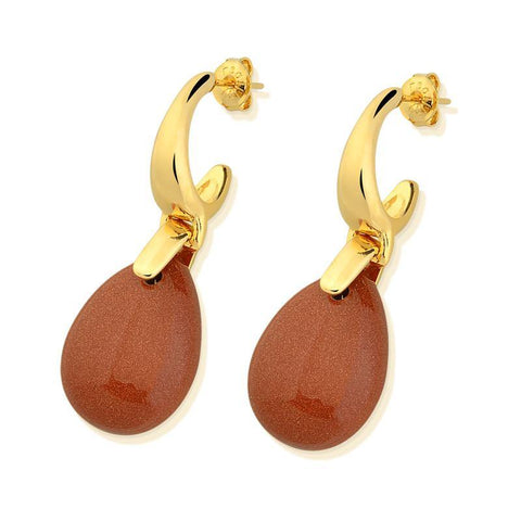Drop Frameless Gemstone Earring