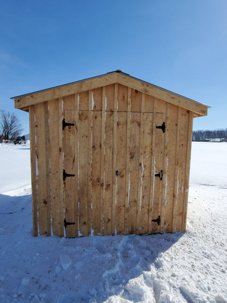 8x10 Amish Built Rough Sawn Shed Gable Style(Local Delivery Only)