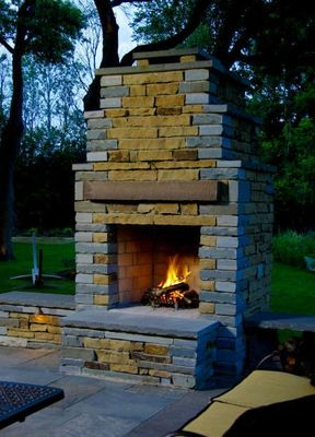 "Stone Age Manufacturing 24"" Contractor Series Fireplace with Straight Lintel"
