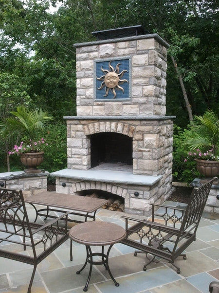 "Stone Age Manufacturing 48"" Contractor Series Fireplace with Arched Lintel"