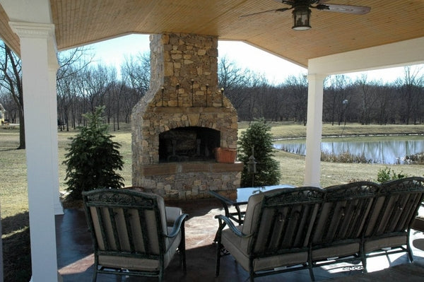"Stone Age Manufacturing 48"" Standard Series Fireplace with Arched Lintel without Firebrick"