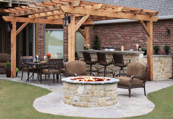 "Stone Age Manufacturing 42"" Tall Round Outdoor Fire Pit Kit"