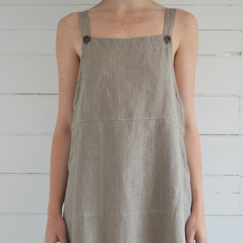 erin templeton overall dress - natural