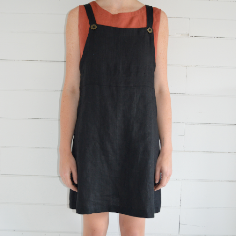 Erin Templeton Overall Dress - black