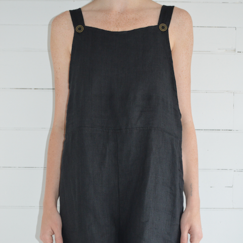 erin templeton overall shorts - black