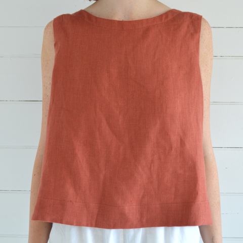 Erin Templeton tank top - burnt sienna