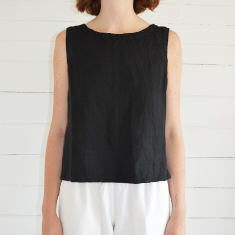 erin templeton tank top - black