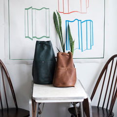 gunnysack, leather, purse, bag, backpack, erin templeton, vancouver