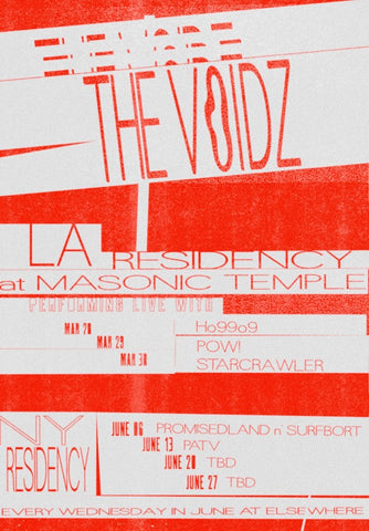 The Voidz Elsewhere Residency Poster