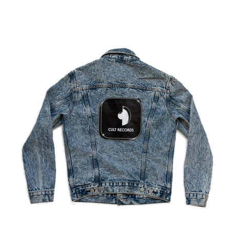 Levi's x Cult Records acid wash denim jacket