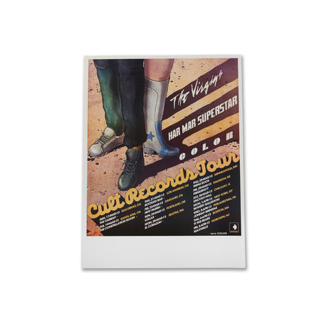 Retro Cult Records Tour Poster