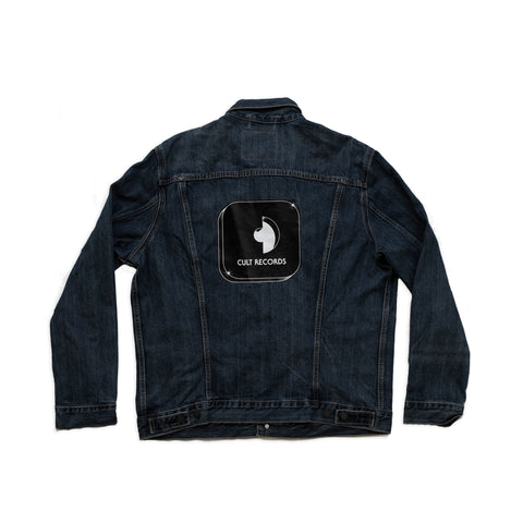 Levi's x Cult Records dark wash denim jacket