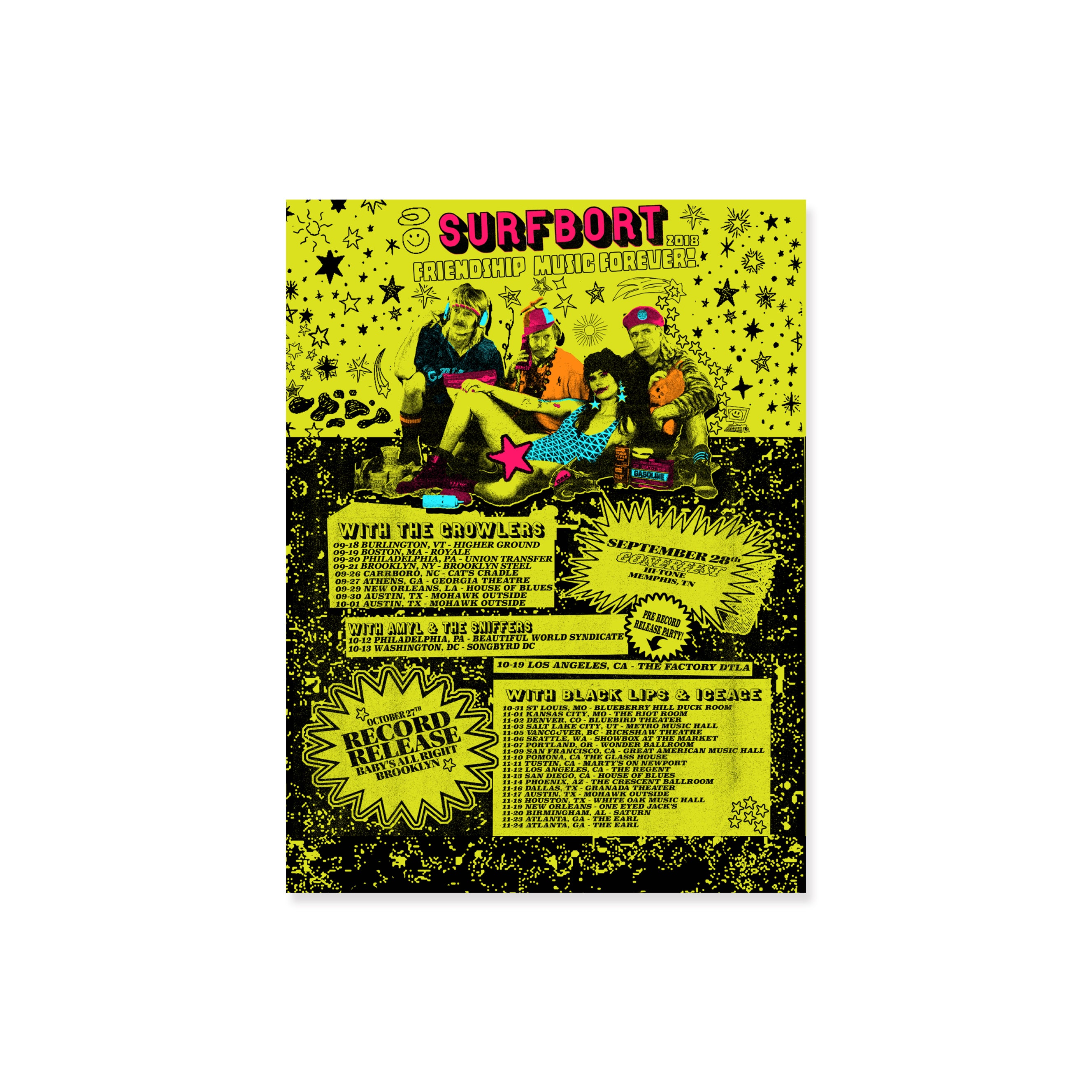 Surfbort 'Friendship Music' Tour Poster