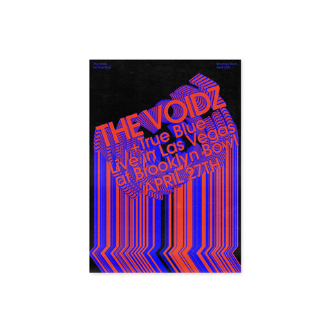 The Voidz Las Vegas Poster with True Blue