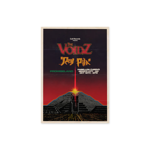 The Voidz Mexico City Show Poster with Rey Pila and Promiseland