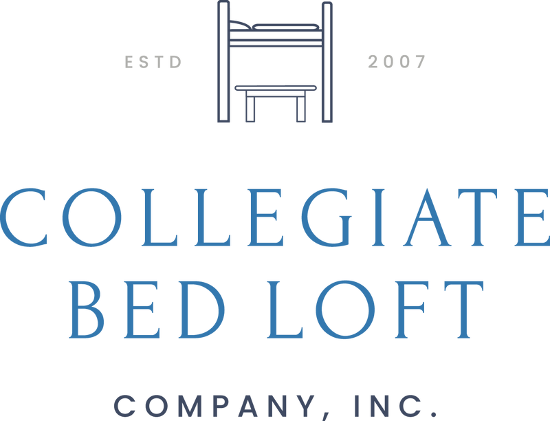 Welcome to Collegiate Bed Loft Company. We are your one stop shop for all your college dorm room needs. We have bed lofts, rugs, safes, desk shelves, headboards and much more.