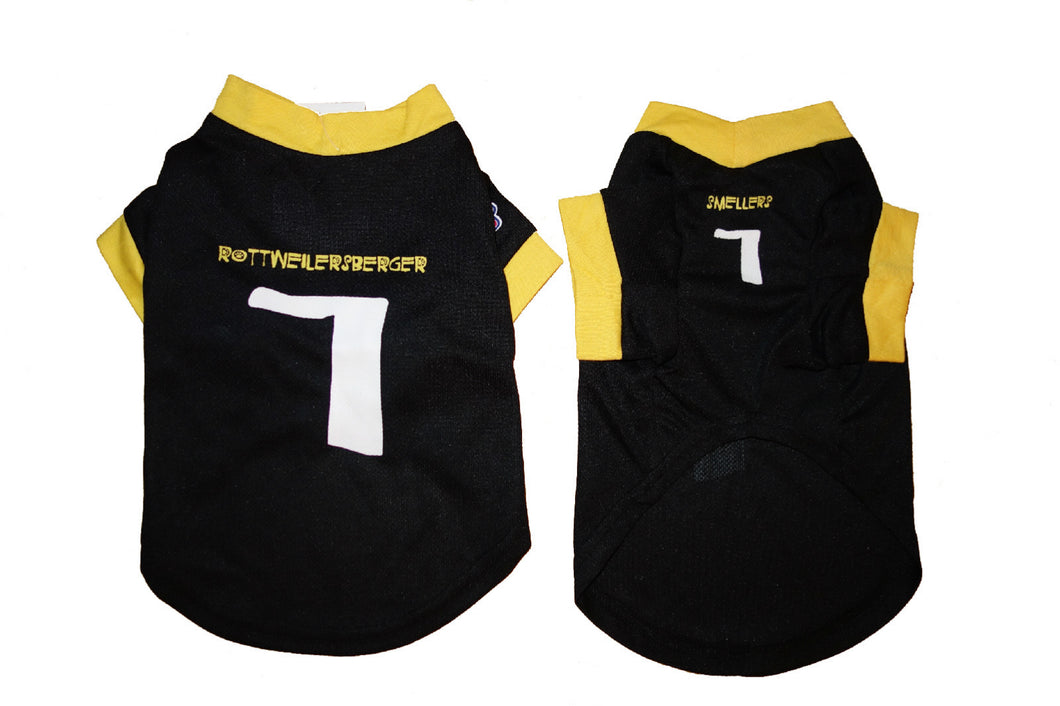 Pet Athletic Wear (PAW) Pet Jersey (#7-Rottweilersberger, Smellers)